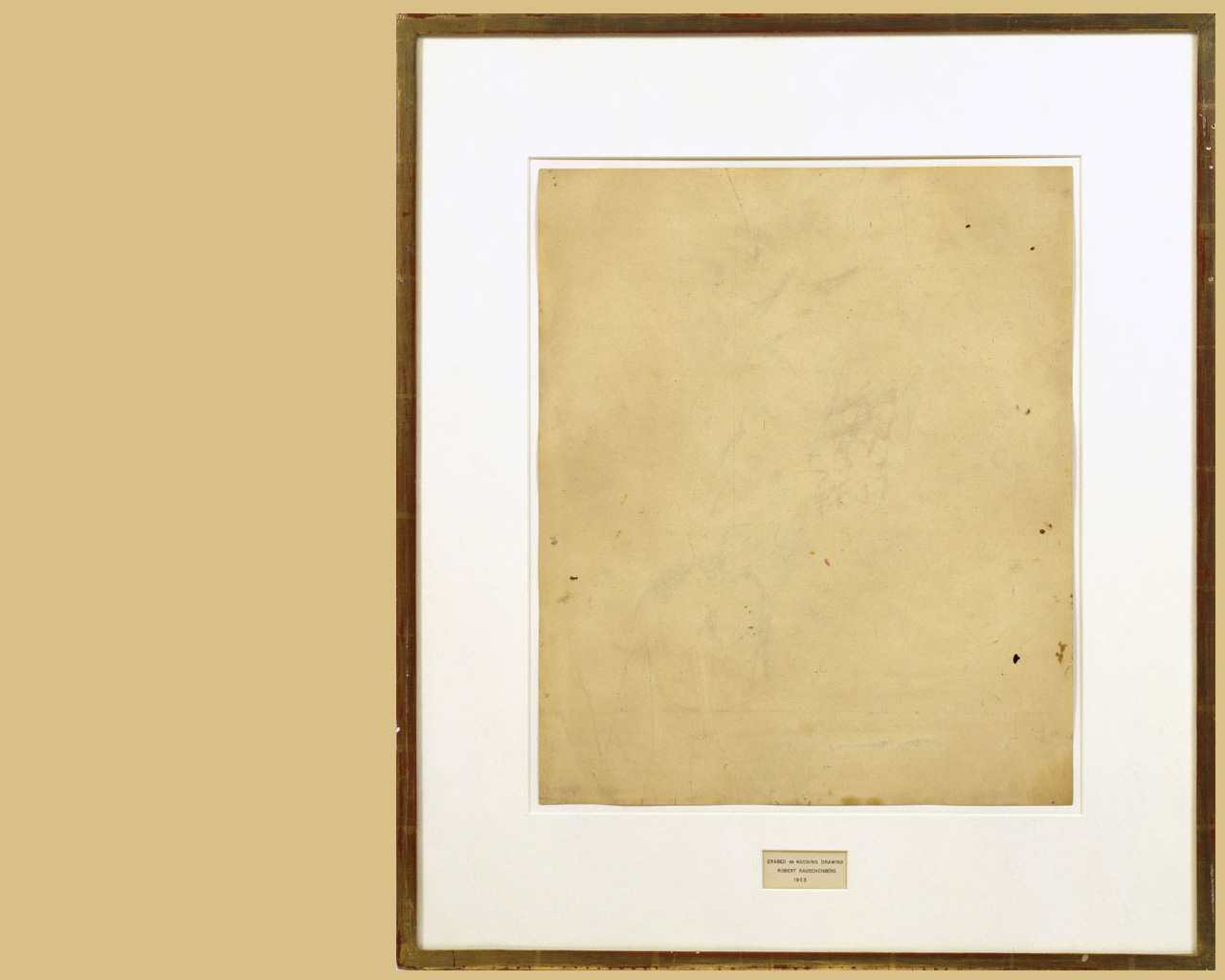 Роберт Раушенберг - Erased de Kooning Drawing