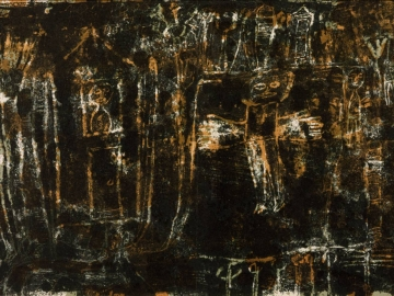 Jean Dubuffet - Inhabited Landscape