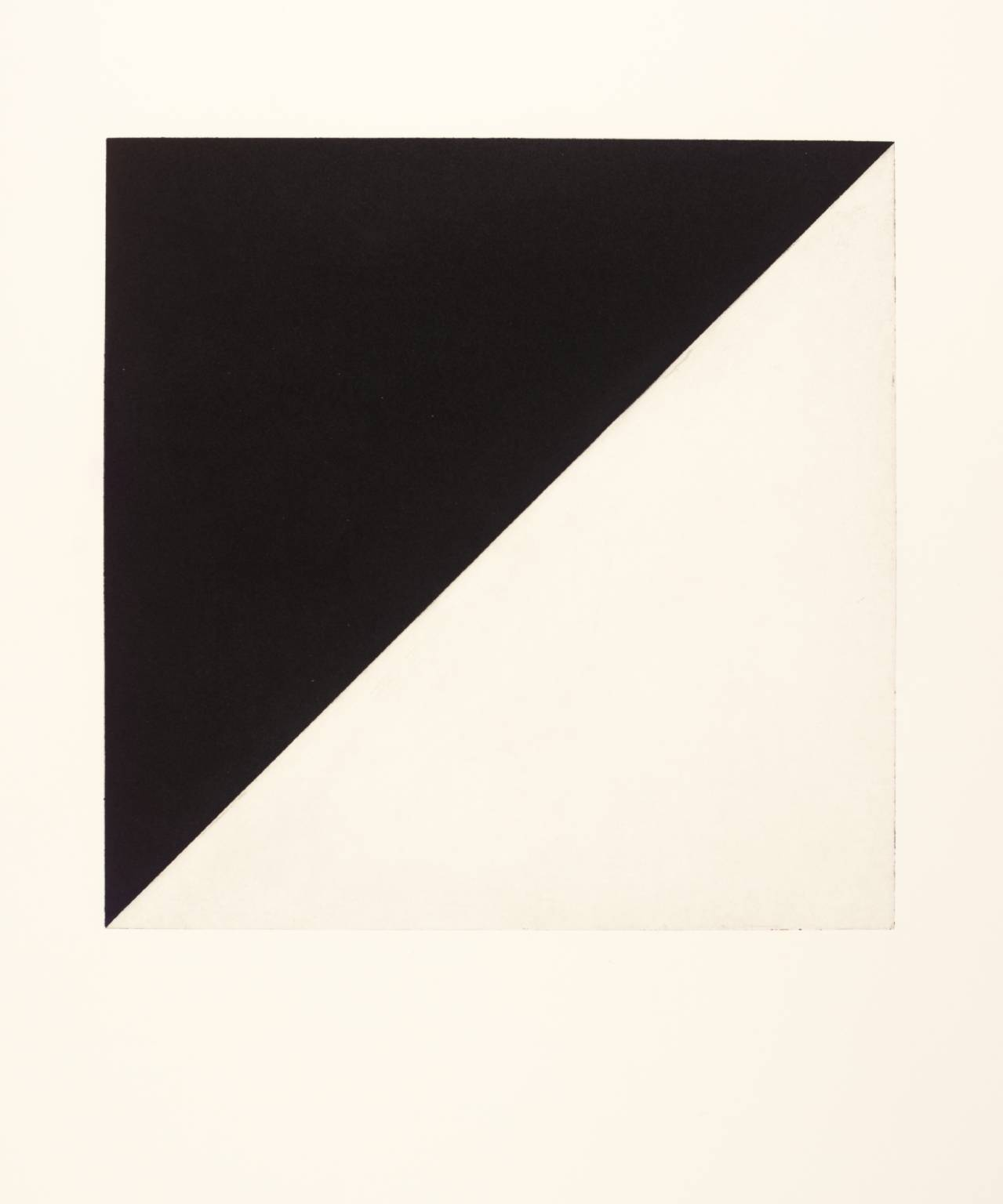 Ellsworth Kelly - Diagonal with Black (State)