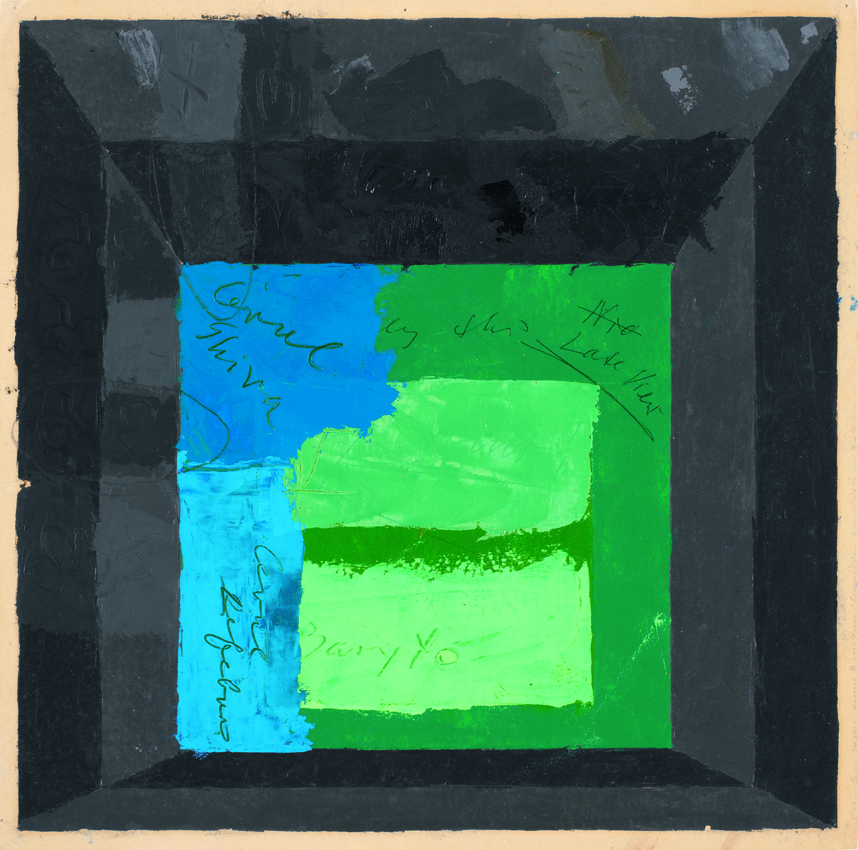 Josef Albers - Color Study for Mitered Square