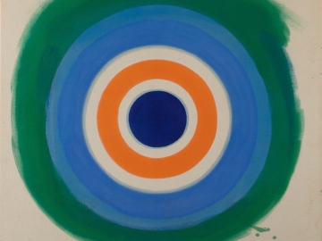 Kenneth Noland - Blue Painted Blue