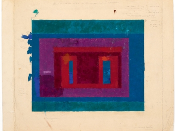 Josef Albers - Color Study for a Variant