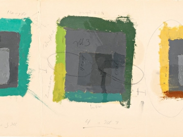 Josef Albers - Three Color Studies for Homage