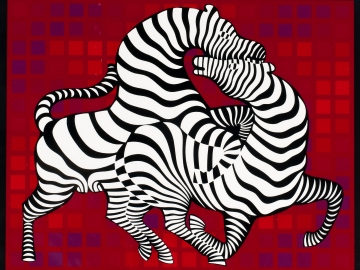 Victor Vasarely - Playful zebras